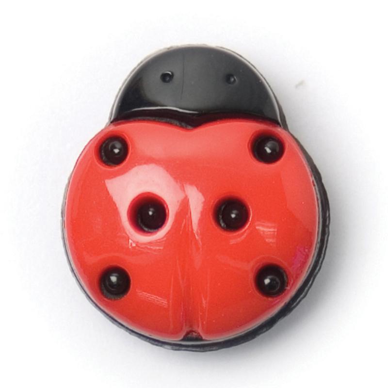 Knoop zwart rood 3 stuks