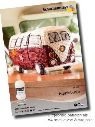 Hippiebus haakpakket Catania garen + DMC borduurzijde