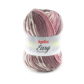 Katia Easy Jacquard 306 - Lichtroze-Bleekrood-Medium bleekrood