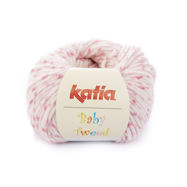 Katia Baby Tweed 203 - Bleekrood-Medium bleekrood-Parelmoer-lichtrood