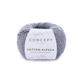 Katia Concept Cotton-Alpaca 84 - Medium grijs