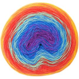 Rico Creative Wool Dégradé Super6 013 regenboog