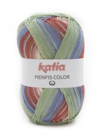 Katia Menfis Color 114 - Beige-Groenblauw-Rood