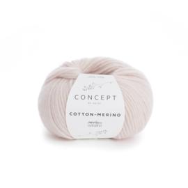 Katia Concept Cotton - Merino 103 - Zeer licht bleekrood