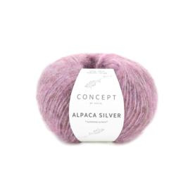 Katia Concept Alpaca Silver 267 - Donker bleekrood-Zilver