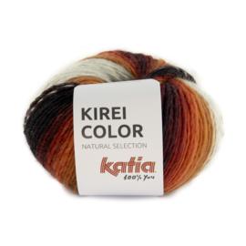 Katia Kirei color 306 - Rood-Camel-Zwart