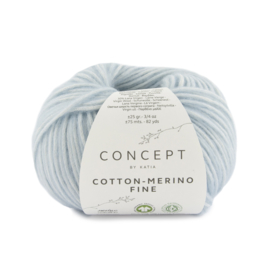 Katia Concept Cotton merino Fine 85 - Licht hemelsblauw
