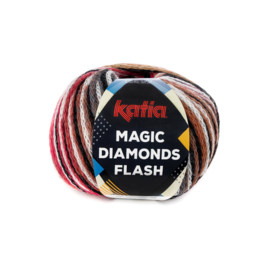 Katia Magic Diamonds Flash 103 - Zwart-Ecru-Rood-Groen-Blauw