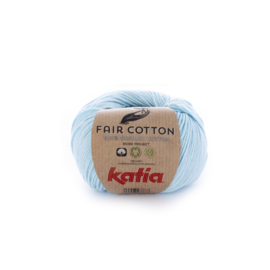 Katia Fair Cotton 8 - Licht hemelsblauw
