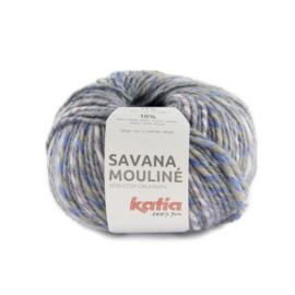 Katia Savana Mouline 207 - Beige-Licht lila-Pastelblauw