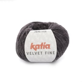 Katia Velvet Fine 210 - Antracietgrijs