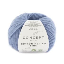 Katia Concept Cotton merino Fine 94 - Licht blauw