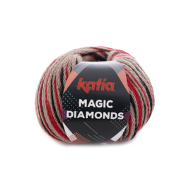 Katia Magic Diamonds 58 - Beige-Rood-Zwart