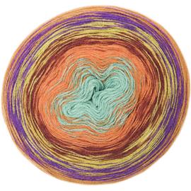 Rico Creative Wool Dégradé Super6 012 oranje-groen