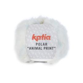 Katia Polar Animal Print 203 - Ecru-Hemelsblauw