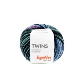 Katia Twins 158 - Geel-Groen-Blauw-Fuchsia