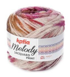 Katia Melody Jacquard Print 503 - Beige-Fuchsia-Oker