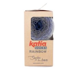 Katia Rainbow Socks 51-Licht jeans-Jeans-Grijs-Donker jeans