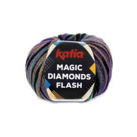 Katia Magic Diamonds Flash 100 - Beige-Zwart-Lila-Groen
