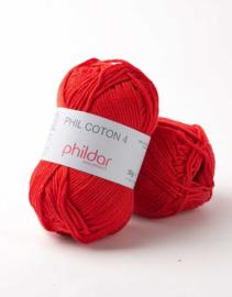 Phildar Coton 4 Cerise