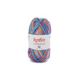 Katia Capri Plus 103 - Oranje-Geel-Blauw-Parelmoer-lichtviolet