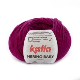 Katia Merino Baby 61 - Donker fuchsia