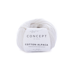Katia Concept Cotton-Alpaca 80 - Wit