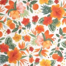 P66 - Polynesian Flowers Popeline