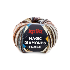 Katia Magic Diamonds Flash 104 - Bruin-Ecru-Roestbruin-Blauw