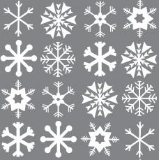 S11 - Stof van pluche of sweater Xmas Snowflakes