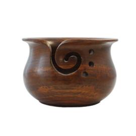 Scheepjes Yarn bowl teakhout 15x10cm donker