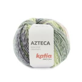 Katia Azteca 7879 - Smaragdgroen-Paars