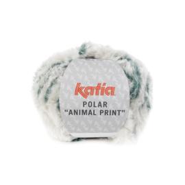 Katia Polar Animal Print 204 - Parelmoer-lichtgrijs-Groenblauw