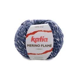 Katia merino Flamé 120 - Jeans-Ecru