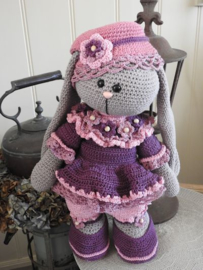 XXL Funny Bunny kledingset Fleury rose