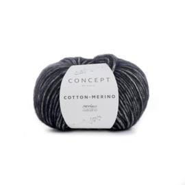 Katia Concept Cotton - Merino 108 - Zwart