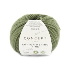 Katia Concept Cotton merino Fine 92 - Bleekgroen