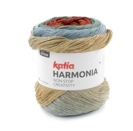 Katia Harmonia 208 - Rood-Roestbruin-Waterblauw-Grijsblauw