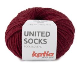 Katia United Socks 16 - Bordeauxpaars