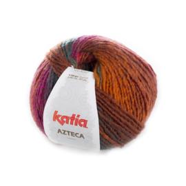 Katia Azteca 7865 - Oranje-Flessegroen-Bleekrood-Bruin