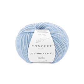 Katia Concept Cotton - Merino 131 - Licht blauw