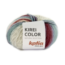 Katia Kirei color 305 - Bruinrood-Parelmoer-lichtgrijs-Blauw