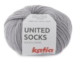 Katia United Socks 8 - Medium grijs