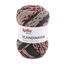 Katia Scandinavia 207 - Rood-Antracietgrijs