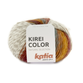 Katia Kirei color 300 - Parelmoer-lichtviolet-Oker-Oranje-Wijnrood