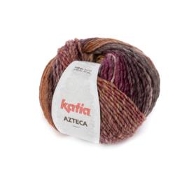 Katia Azteca 7870 - Bruin-Framboosrood-Lichtroze-Geel