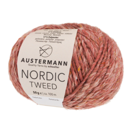Austermann Nordic Tweed 02 rozenrood