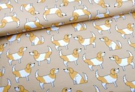 Eva Mouton Dogs Cotton Jersey 155 cm