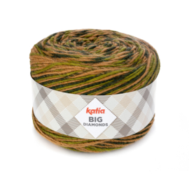 Katia Big Diamonds 602 - Groen-Beige-Mosgroen