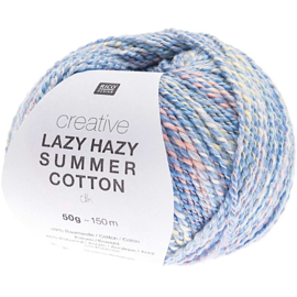 Rico Creative Lazy Hazy Summer Cotton 008 blauw